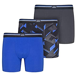 Jockey Cotton Stretch 3-Pack Bóxer Trunk, Blue Iolite