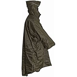 LOWLAND OUTDOOR® Poncho impermeable de lluvia, 100% Resistente a la Agua (7000 mm) Capucha ajustable.