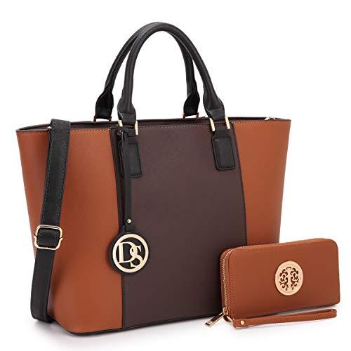 Damen Designer-Handtaschen, große Schultertaschen, mit Tragegriff, Hobo, mit passendem Geldbeutel, Braun - 3-coffee/Brown - Größe: Medium -