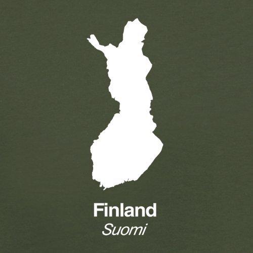 Finland / Finnland Silhouette - Herren T-Shirt - 13 Farben Olivgrün