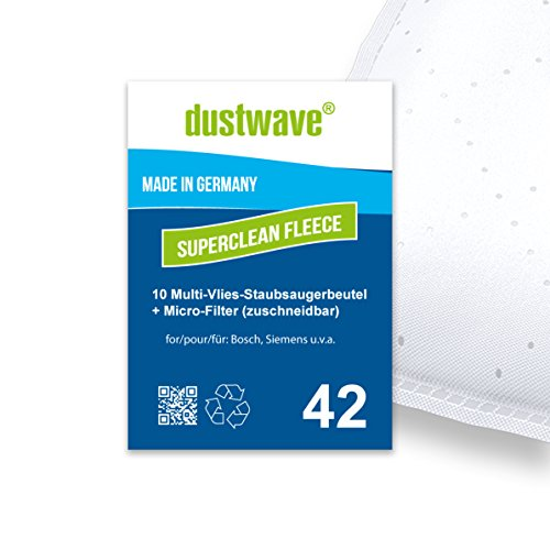 Serie Filter Bag (10 Staubsaugerbeutel + Filter geeignet für Siemens Big Bag 3 l Serie, Org. Gr. Typ K, Org. Gr. VZ 71 AFK von dustwave® Qualität Made in Germany)