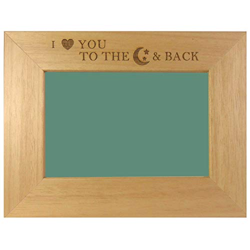 15,2 x 10,2 cm Eiche Foto Rahmen 'I Love You To The Moon & Back