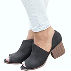 db1b57a25311 Women s Heeled Sandals OverDose Peep Toe Block Heeled Sandal ... by OverDose  Women s Shoes