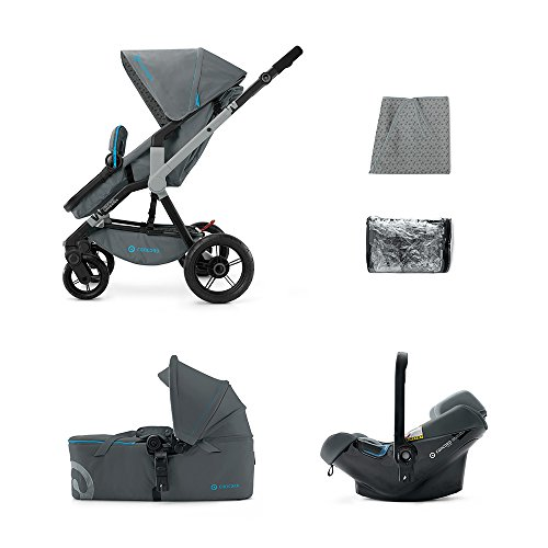 CONCORD KINDERWAGENSET MOBILITY-SET WANDERER AIR-SCOUT, STONE GREY, KOLLEKTION 2015