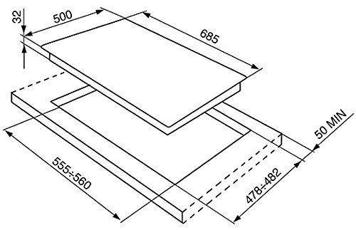 LogiLink SR975NGHD integrierter Gaskochfeld schwarz - Platte (eingebaut, Gaskochfeld, emailliert, Schwarz, 1650 W, 2550 W)