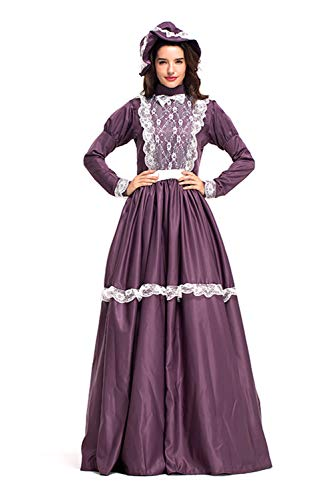 lonial Historische Kostüm, Damen Viktorianisch Pioneer Kolonial Bauer Kostüm Prairie Kleid XL ()