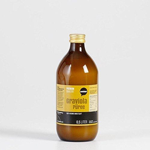 Wohltuer Graviola Püree 500 ml | 100% Graviola (Stachelannone) Direktsaft | Unfiltrierter &...