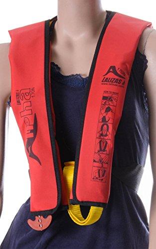 Rettungsweste Lalizas Alpha 170N Kinder CE ISO 12402-3 zertifiziert, manuelle & automatische Auslösung rot 25 - 40 kg - Aufblasbare Rettungsweste