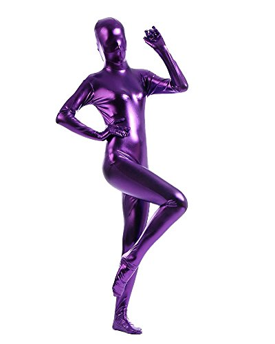 tüm Ganzkörper Anzug Suit Halloween Kostüm Rose Violett XXL (Ganzkörper-spandex-halloween-kostüme)