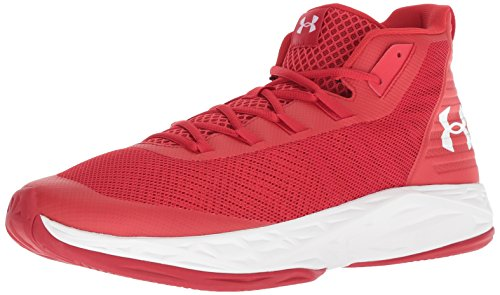 Under Armour UA Jet Mid, Scarpe da Basket Uomo, Rosso (Red White 600), 41 EU