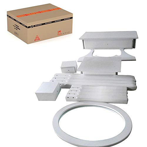 Songmics® Schminktisch Frisierkommode Frisiertisch Kosmetiktisch mit Spiegel inkl. Hocker, weiß, Holz, RDT002 - 17