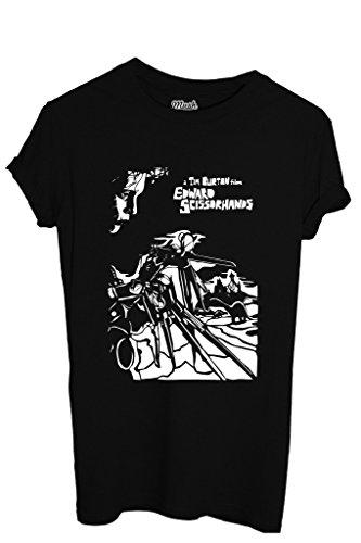 MUSH T-Shirt A Tim Burton Film Edward Mit Den Scherenhänden - Film by Dress Your Style - Jungen-M Schwarz