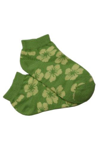 Socks verkürzt - Tropischen Blumen Motiv. 8-9 Jahre Größe: 35-38, Farbe: Lime (Hochwertige Qualiteat und toller Preis direkt von einem Herrsteller)