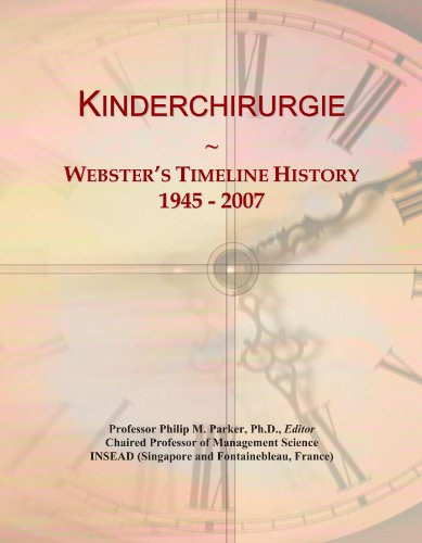 Kinderchirurgie: Webster's Timeline History, 1945 - 2007