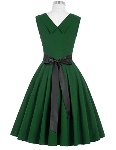 GRACE KARIN Femmes Robe de bal vintage sans manches robe de ballet Vert foncé (CL8948-5)