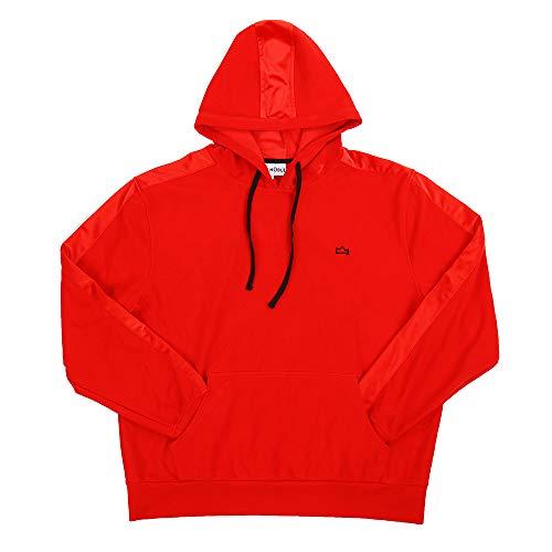 Big And Tall Cotton Pullover (MEETWARM Herren Big & Tall Fleece Pullover Hoodie Sweatshirt Rot - rot - XXX-Large)