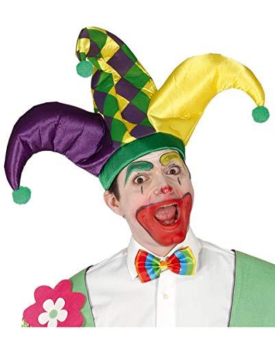 New Orleans Kostüm Karneval - Horror-Shop Bunte Joker-Mütze für Karneval & Motto Party