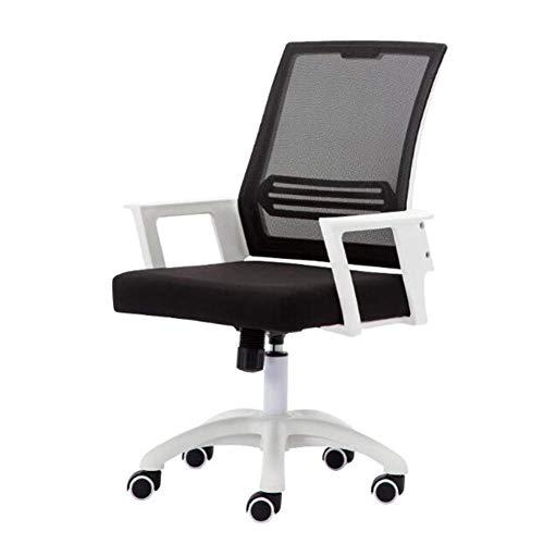 Stühle Büro Mesh, Ergonomische Wide Seat Executive Computer Schreibtisch Stuhl Rollen Swivel Lordosenstütze Höhenverstellbar (Color : White) -