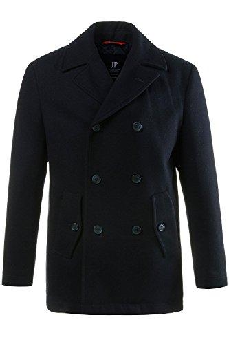 JP 1880 Herren große Größen bis 7XL, Cabanjacke, Mantel mit hochwertiger Woll-Qualität, Reverskragen Navy 7XL 700196 70-7XL