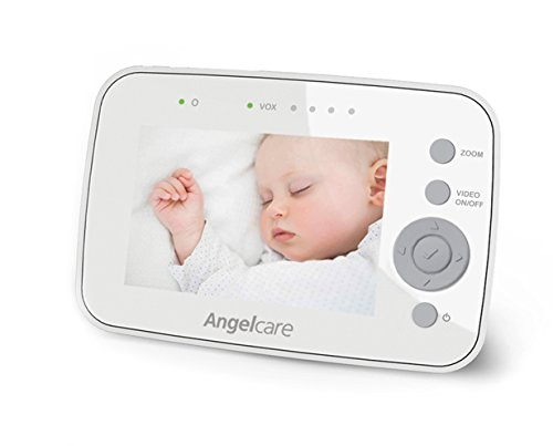 Angelcare AC1300 Digital Video, Movement and Sound Baby Monitor – White