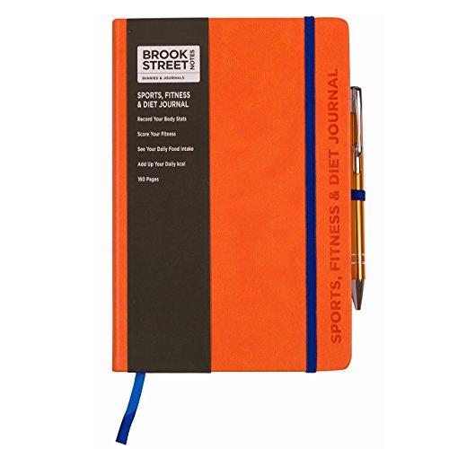 Sports, Fitness & Diet Notebook - Hardback A5 (Bright Orange)