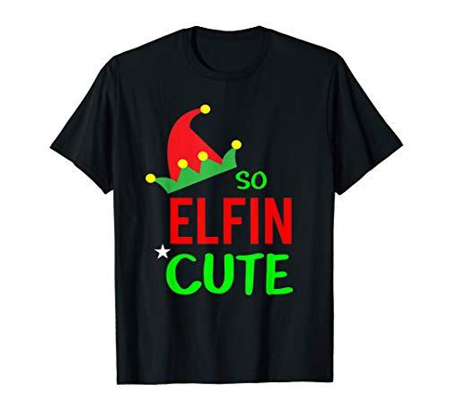 Erwachsene Unisex Christian T-shirt (So Elfin Cute Lustige Coole Elf Hat Christian Pullover T-Shirt)
