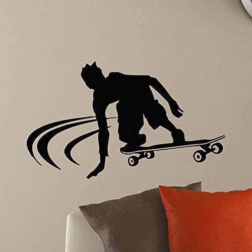 Crjzty leuchtende tapete Fototapete Vinyl Aufkleber Junge Skateboard Wandtattoo Skateboard Stil Wandaufkleber Junge Raumdekoration Skateboard Liebhaber