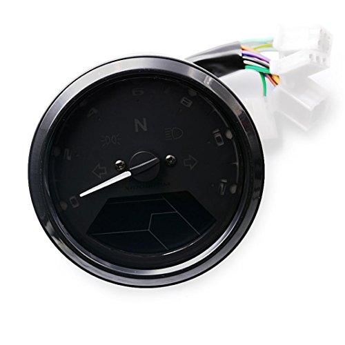 Velocímetro, Lanowo pantalla grande 12000rpm alarma baja Aceite de alarma de baja tensión de alta calidad de alta eficiente de la moto odómetro / tacómetro / velocímetro