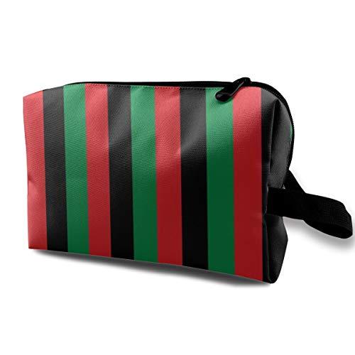 9e8a3c626e11 Rosso, nero, verde Pan African Flag verticale portatile da viaggio trucco  cosmetico borse organizzatore borse multifunzione per le donne