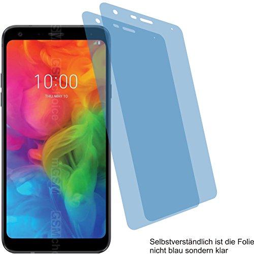 2X Crystal Clear klar Schutzfolie für LG Q7+ Plus Bildschirmschutzfolie Displayschutzfolie Schutzhülle Bildschirmschutz Bildschirmfolie Folie