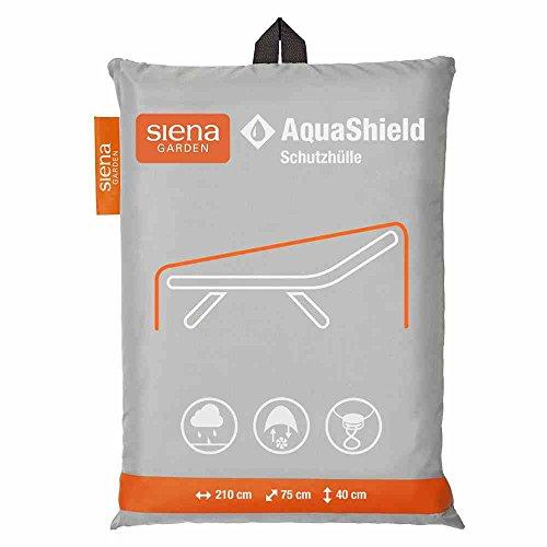 Siena Garden AquaShield Liegenschutzhülle, silber-grau, mit Active Air System, 210x75x40cm