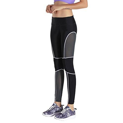 Lkklily-sports Pantalon Pantalon drapé de gaze fin Hip Pantalon Fitness The white line