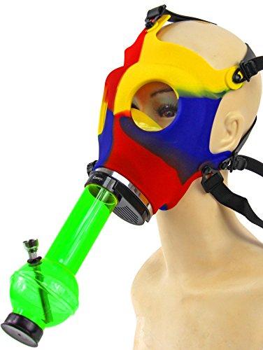 (Nick and Ben Acryl Bong inkl. Maske! Für die chilligen Stunden!)