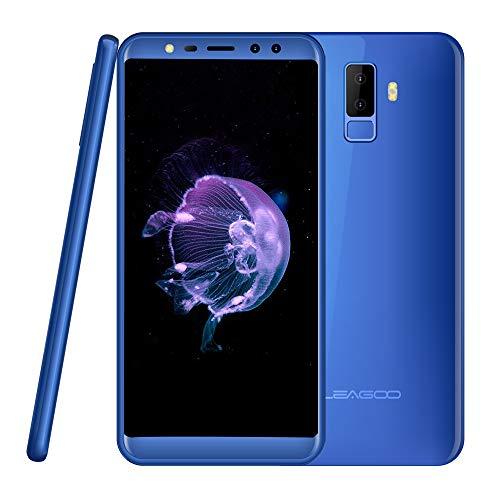 Smartphone Ohne Vertrag Leagoo M9, Dual SIM Handy Mobiltelefon Günstiges Telefon Vierfach-Kameras 5.5 Zoll Bildschirm 2GB RAM 16GB ROM (Blau)