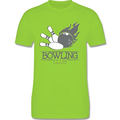 Bowling & Kegeln - Bowling Club Ball Flamme - Herren Premium T-Shirt Hellgrün