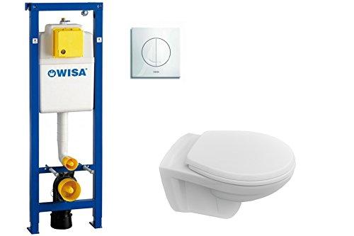 Komplettset WC-Vorwandelement WISA XS, Argos weiß Marken Wand WC Keramik, WC-Sitz Soft Close
