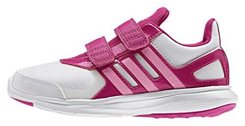 Adidas Hyperfast 2.0 Cf K, Scarpe Low-Top Bambine e Ragazze, 33 EU Multicolore (Ftwwht/Sepigl/Eqtpin)