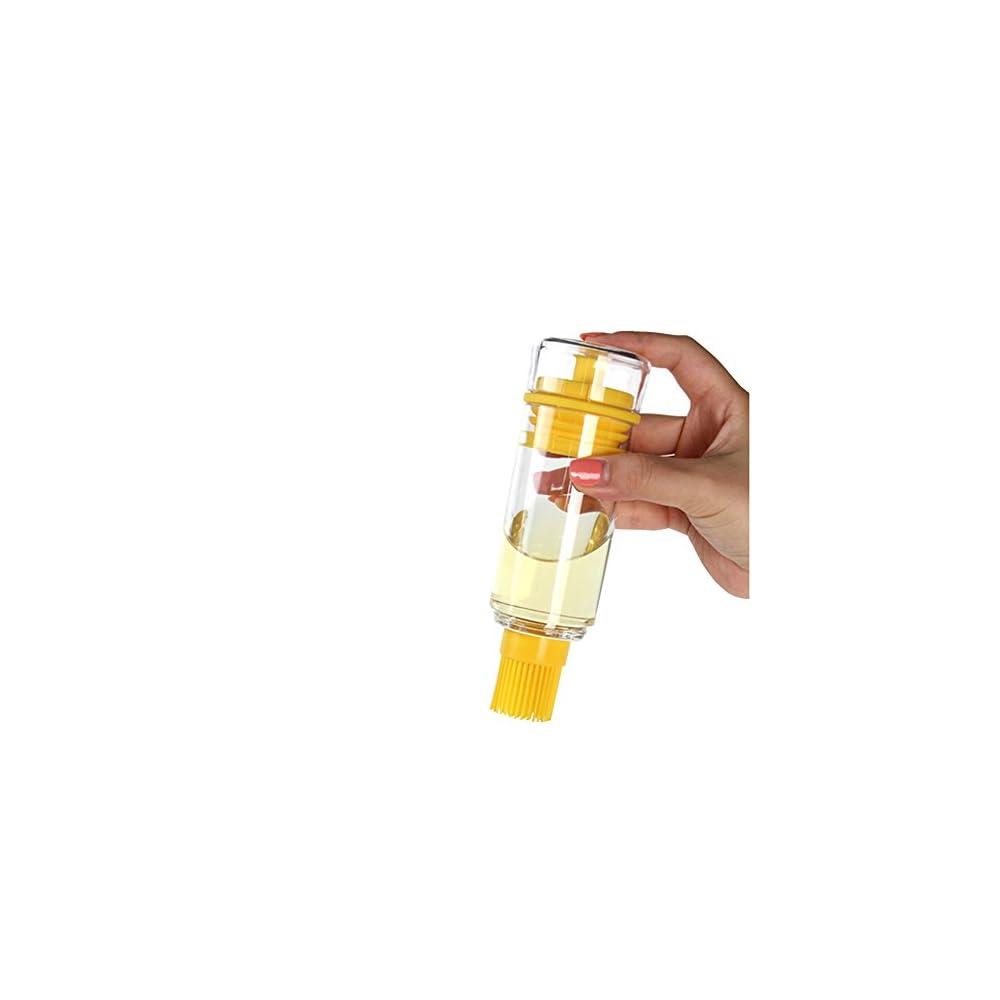 Demarkt L Flasche Glas Lflasche Mit Pinsel Honig Flasche Mit Hitzebestndige Silikon Brste Backpinsel Fr Bbq Kochen Speisel Olivenl Butter Sauce Essig