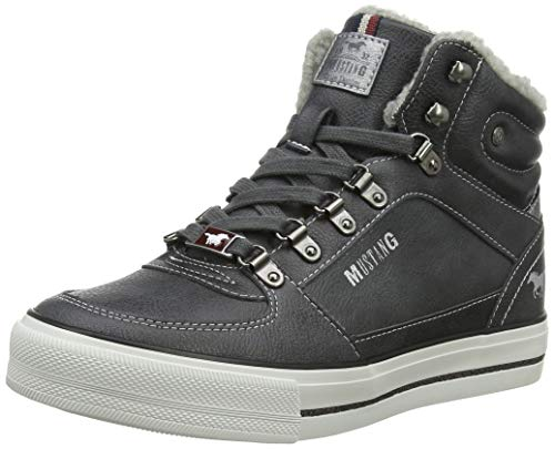 Mustang High Top Sneaker, Baskets Hautes Femme, Gris...
