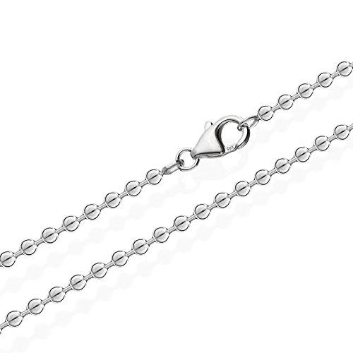 NKlaus 925 Sterlingsilber Kugel Kette für Anhänger Silberkette 70cm 3,00mm 16gr 2501