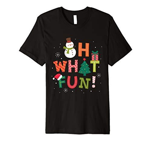 Oh, was Fun Weihnachtsbaum T-Shirt Geschenk Xmas Funny Shirt