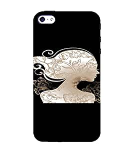 PrintVisa Beautiful Woman Silhouette 3D Hard Polycarbonate Designer Back Case Cover for Apple iPhone 4 :: 4S