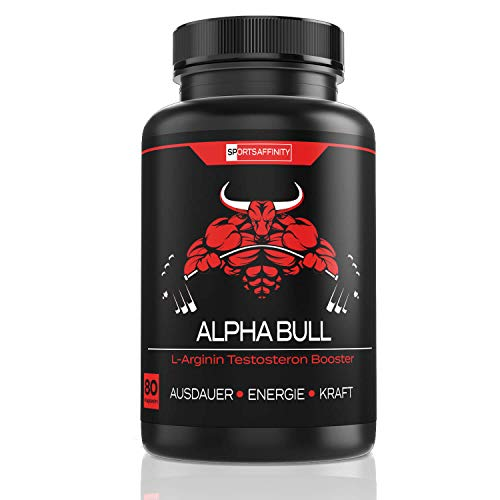 ALPHA BULL For Men [Hochdosiert] » Beliebt im Bodybuilding und Muskelaufbau - Testo/Testosteron, Energie Booster für Männer « Sport Tabletten extrem - in 80 Kapseln