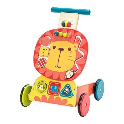 labebe - Chariot Menage Enfant, Trotteur Bebe Fille/Garcon, Chariot a Roulettes, Trotteur Bois,...