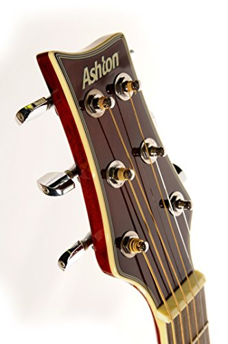 Ashton SL29CEQWRS Westerngitarre Starter Pack Weinrot