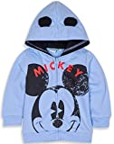 Disney Mickey or Minnie Mouse Baby Boys Girls Fleece Warm Hoodie Jumper Sweatshirt with Ears and Large Character Face 3 Months - 24 Months