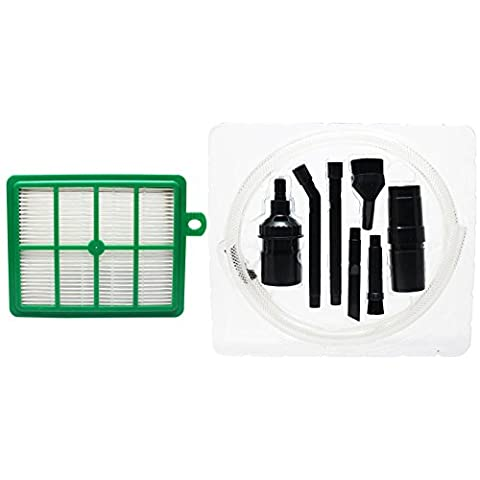 Replacement Eureka 6100 Series Vacuum HEPA Filter with 7-Piece Micro Vacuum Attachment Kit - Compatible Eureka 60286C, HF-1 HEPA Filter