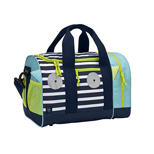 Lässig Mini Sportsbag Little Monsters, Bouncing Bob Kinder-Sporttasche, Navy Türkis (Mädchen Lässig)