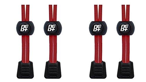 Elastische Schnürsenkel für Laufen und Triathlons - 2 SETS RED