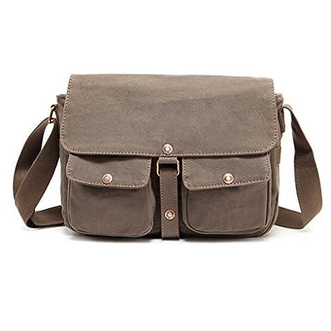 QHGstore Army Style Canvas Men Bag Vintage Messenger Shoulder Bag Travel bags green